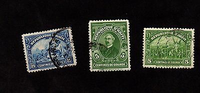 Stamps ~ HAYTI Caribbean ~ Early Mounted Used