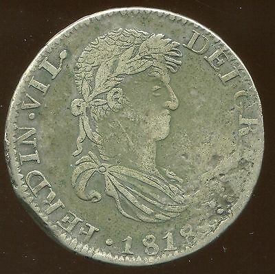 1818AG Mexico 8 Reales, War of Independence, KM-111.5