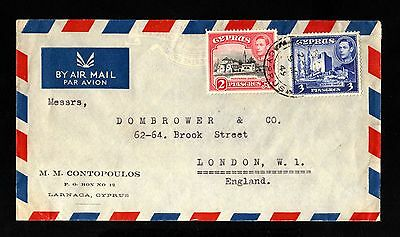 15693-CYPRUS-AIRMAIL COVER LARNACA to LONDON (great britain)1949.Zypern.CHYPRE.