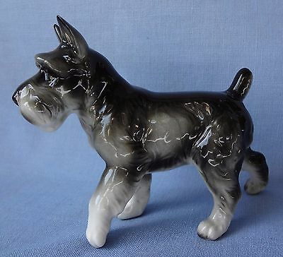 MINIATURE SCHNAUZER Vintage Dog Figurine From Estate Collection
