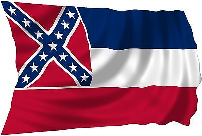 MISSISSIPPI FLAG 3 x 5 '   FLAG   -  NEW 3X5 INDOOR OUTDOOR COUNTRY FLAG