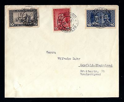 14978-BOSNIA & HERZEGOVINA-MILITARY COVER SARAJEVO to KREFELD (germany)1917.WWII