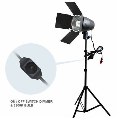 150W Continuous Barndoor Lighting Stand Kit with Dimmer Switch Photography Studi