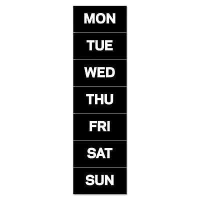 MasterVision® Calendar Magnetic Tape, Days Of The Week, Black/Whi 005603750680