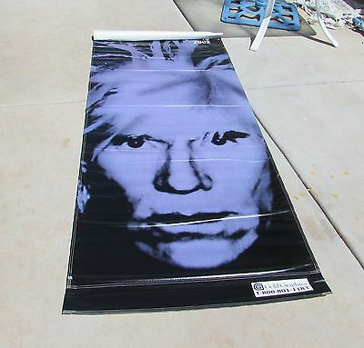 ANDY WARHOL Vinyl Huge Moca Double Sided Street Banner May 25 - August 18, 2002