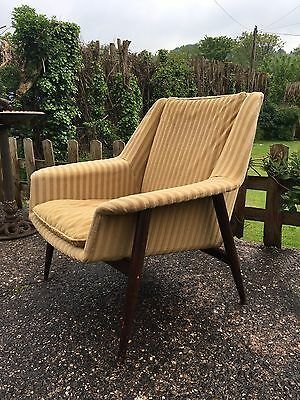 Stunning Vintage Mid Century Parker Knoll Chair Rare Design