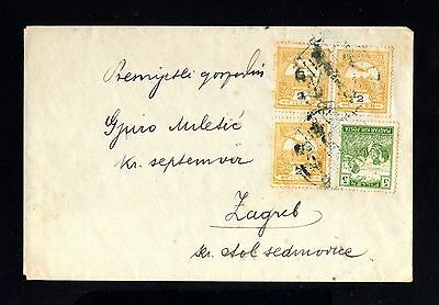 15224-HUNGARY-OLD COVER BUDAPEST to ZAGREB (croatia).19...WWII.Magyar posta.