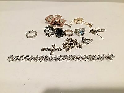 Sterling Silver Jewelry Lot 100 gram~ wear/scrap