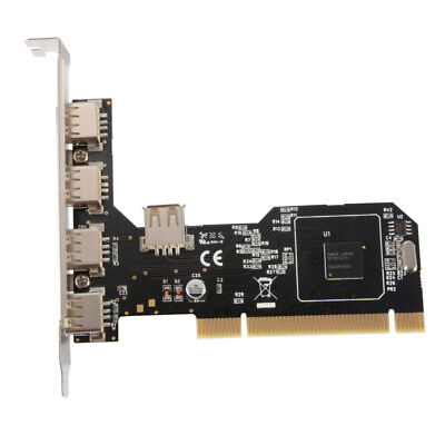 5-Port USB 2.0 PCI Hub Board Expansion Card Adapter Controller HighSpeed AC694