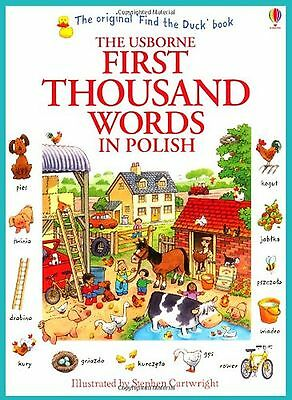 First Thousand Words in Polish (Usborne First Thousand Words) NEW BOOK