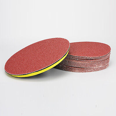 10Pcs 100mm Grit Red Sander Disc Sanding Pad Polishing Pad Sandpaper Tool