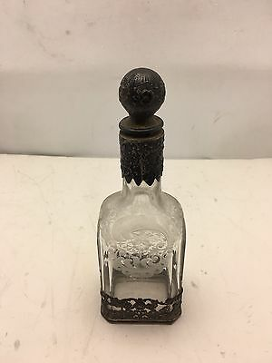 Vintage Sterling Crystal Decanter Edge Glass