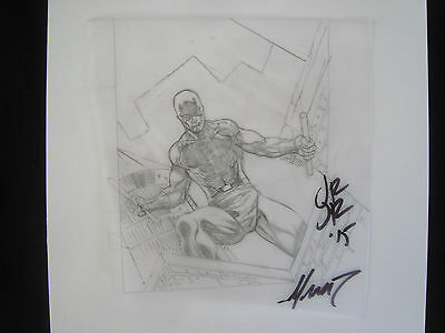 DAREDEVIL MAN WITHOUT FEAR Original Art Sketch signed by John Romita JR