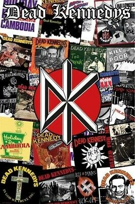 DEAD KENNEDYS ~ COVERS COLLAGE 24x36 MUSIC POSTER Holiday Cambodia God We Trust