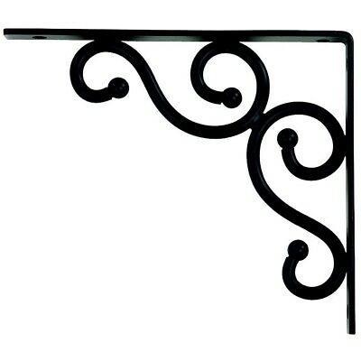 "Stanley Hardware S250-590 7"" By 8"" Traditional Shelf Bracket Black"