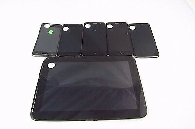Lot of 6 Assorted Cracked Google Locked Unknown Carrier (Check ESN)_K12