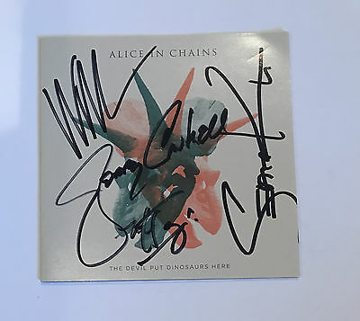 Alice in Chains Signed The Devil Put Dinosaurs Here CD Booklet Newbury Autograph