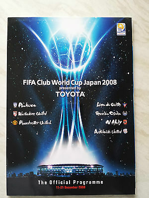 Fifa World Club Championship Official Programme Japan 2008 Inc. Man United *vgc*