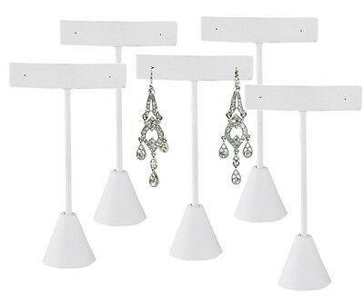 "Lot Of 5 White Earring Display White Stand Earring Tree Earring Stand 4 3/4""h"