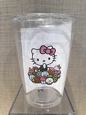 Hello Kitty Cafe Pop-Up Store Rare Collectible Disposable Plastic Cup