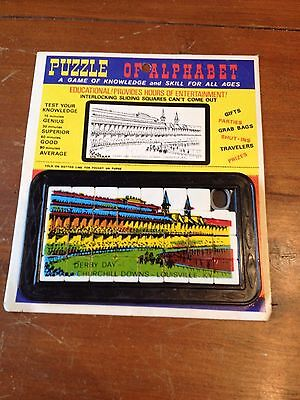 Vintage Puzzle of Alphabet Kentucky Derby Day Game - Horse Racing