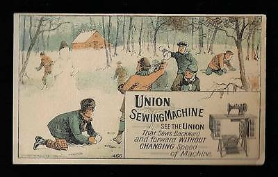 Union Sewing Machine - Snowball Fight!!