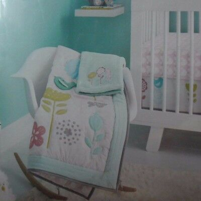 Circo Burst Of Spring 4Pc Baby Crib Nursery Bedding Set Comforter Sheet Skirt Bl