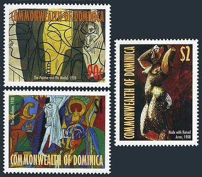 Dominica 2096-2098,2099 sheet,MNH. Paintings by Pablo Picasso,1998.