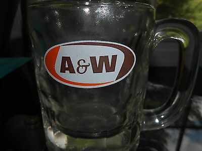 "A&W Root Beer Vintage HEAVY Antique Handled Mug 4.4"" Tall Classic Style"