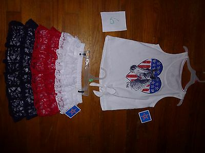 ruffle skirt-red/white/blue-NWT- size 5T -S&H $2.00