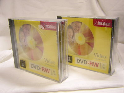 IMATION  ( 2 ) DVD-RW  3 pack packages NEW Factory Sealed