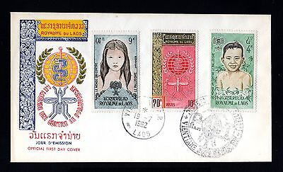 16043-LAOS-COMMMORATIVE FIRST DAY COVER VIENTIANE.1962.French colonies.Paludisme