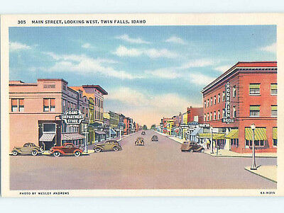 Unused Linen STREET SCENE Twin Falls Idaho ID hs3217