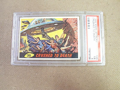 "Mars Attack # 20 ""crushed To Death ""   Psa 5 Excellent  1962 Bubbles"