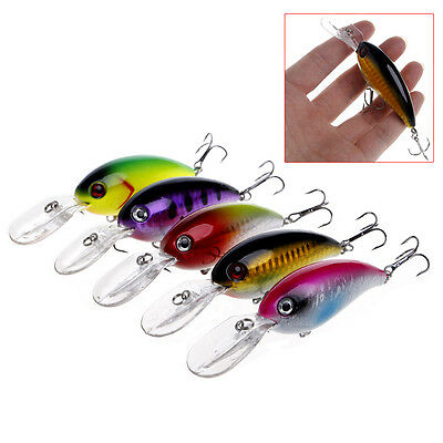 1PC Minnow Fishing Lures Bass Crankbait 6# Hook Hard Tackle Crank Baits 10cm/14g