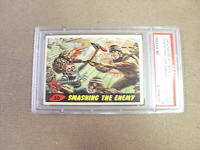 "Mars Attack # 50 "" Smashing The Enemy ""   Psa 6 Ex-Mt  1962 Bubbles"