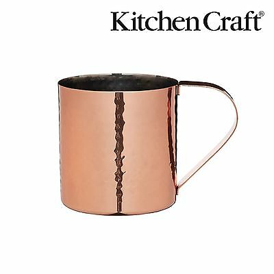 KitchenCraft Bar Handwerk Gehämmert Kupfer Moscow Mule Cocktail Becher 550 ml