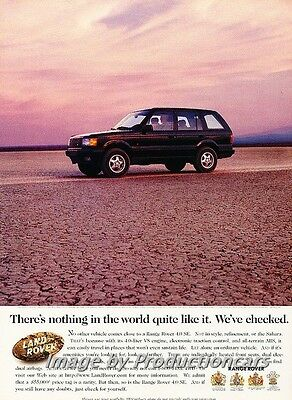 1996 1997 Range Rover - Original Advertisement Print Art Car Ad J672