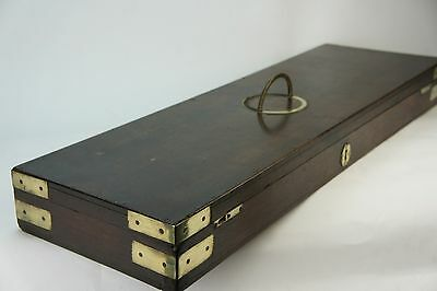 Vintage Oak & Brass Antique Gun Case