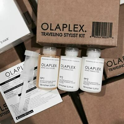 OLAPLEX TRAVELING STYLIST KIT #1& 2x#2 Travel Hair Treatment NEW SEALED ORIGINAL