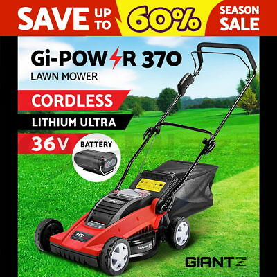 NEW Giantz Lawn Mower Portable Cordless Electric Lawnmower Lithium Battery