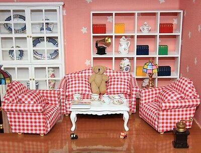 1:12 Dollhouse Miniature Furniture Fabric Single Sofa For Living Bedding Room ♫