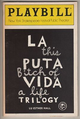 """La Puta Vida Trilogy"" Playbill 1987 Off-Broadway  John Leguizamo, John Turturro"