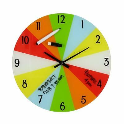 Childrens Organise Your Time Glass Wall Clock W7472