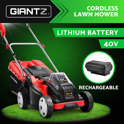 NEW Giantz Lawn Mower Cordless Lawnmower Lithium Battery Powered Electric