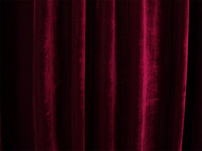 Large Thick Velvet Curtain 300x230cm +2m blockouts+15 hooks Burgundy New