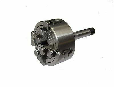 Rdgtools 50Mm 4 Jaw Independent Lathe Chuck 8Mm Arbour Watchmaking