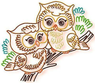 Sweet Little Owls 10 Machine Embroidery Designs Cd 4 Sizes Included