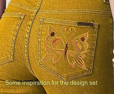 Stunning Butterflies 10 Machine Embroidery Designs Cd 2 Sizes