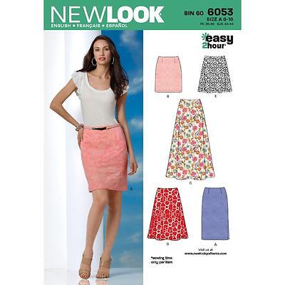 New Look Pattern Misses' Skirts 6053